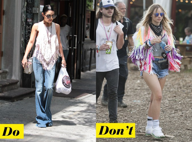 Le haut frangé - Do : Vanessa Hudgens / Don't : Suki Waterhouse