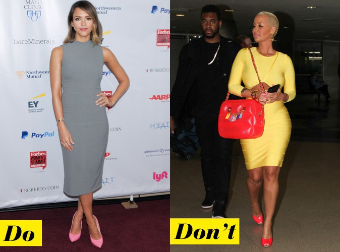 Les chaussures roses - Do : Jessica Alba / Don't : Amber Rose