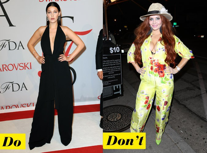 La combinaison oversize - Do : Bella Hadid / Don't : Phoebe Price