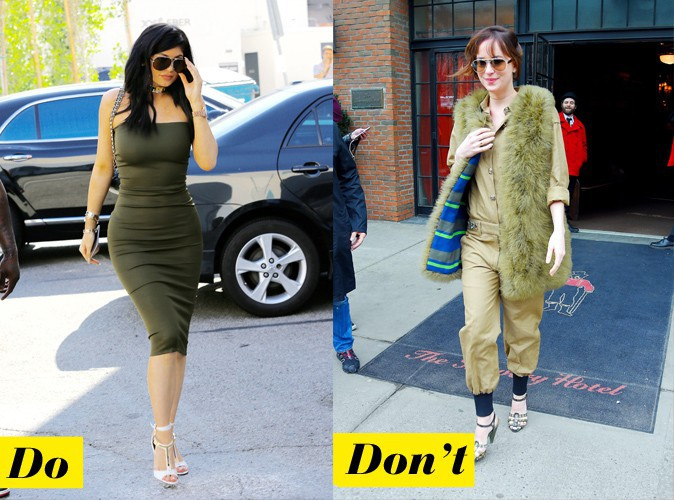Le kaki - Do : Kylie Jenner / Don't : Dakota Johnson