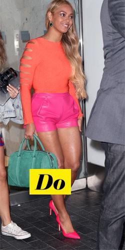 Do : Beyoncé et sa tenue fluo