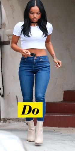 Do : Karrueche Tran et son crop top + jean