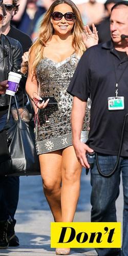 Don't : Mariah Carey et sa robe léopard