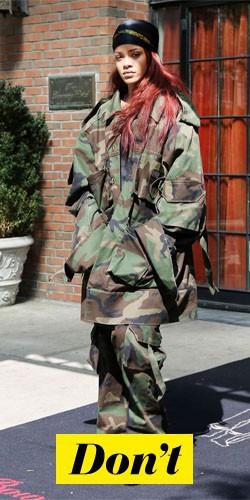 Don't : Rihanna et sa tenue militaire