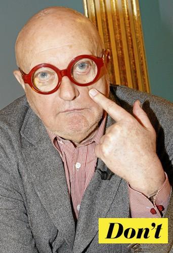 Les lunettes de Jean-Pierre Coffe ? Même pas en rêve !