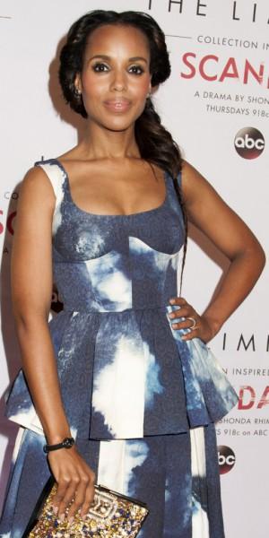 Beauty Look : Kerry Washington : elle ose la couronne de tresses romantique !