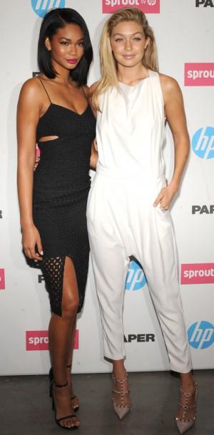 Chanel Iman VS Gigi Hadid : des looks black and white !