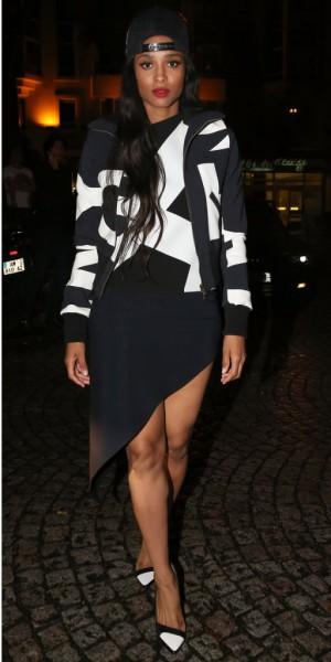 Ciara : urban chic en look black and white !