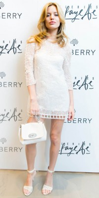 Georgia May Jagger : sublime en total look blanc !