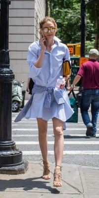Olivia Palermo voit la vie en bleu !