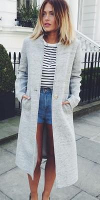 On copie le super look navy et trendy de Caroline Receveur !