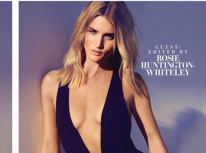 Rosie Huntington-Whiteley : sexy en maillot de bain pour Harper's Bazaar