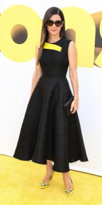 """Sandra Bullock : un look très """"Minion"""" !"""