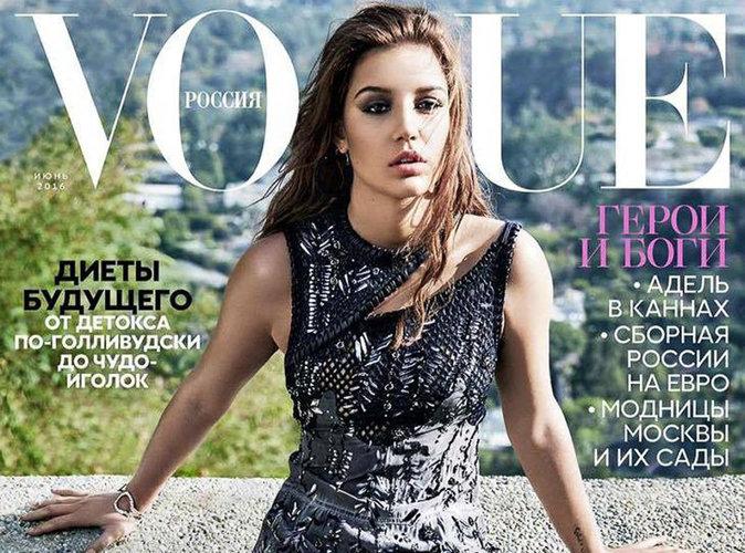 Adèle Exarchopoulos : chic, rock et sexy en couverture du magazine Vogue Russie