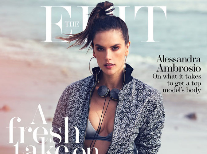 Alessandra Ambrosio : bombesque et sportive en couverture de The Edit
