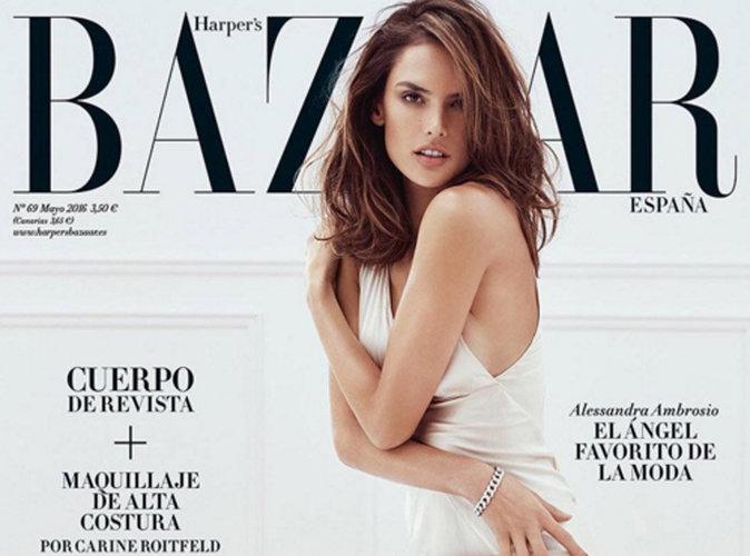 Alessandra Ambrosio : sexy à souhait en couverture de Harper's Bazaar Espagne