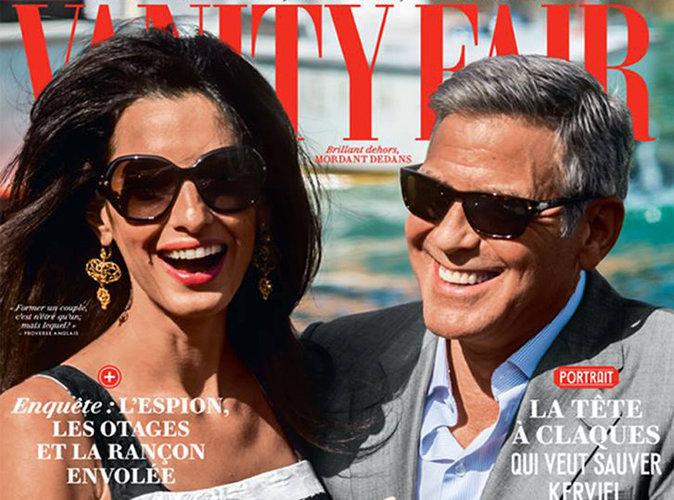 Amal et George Clooney : complices et rayonnants en couverture de Vanity Fair