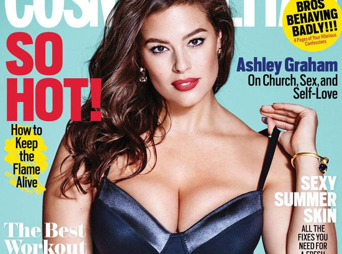 Ashley Graham : Pin up plantureuse en couverture du Cosmopolitan US !