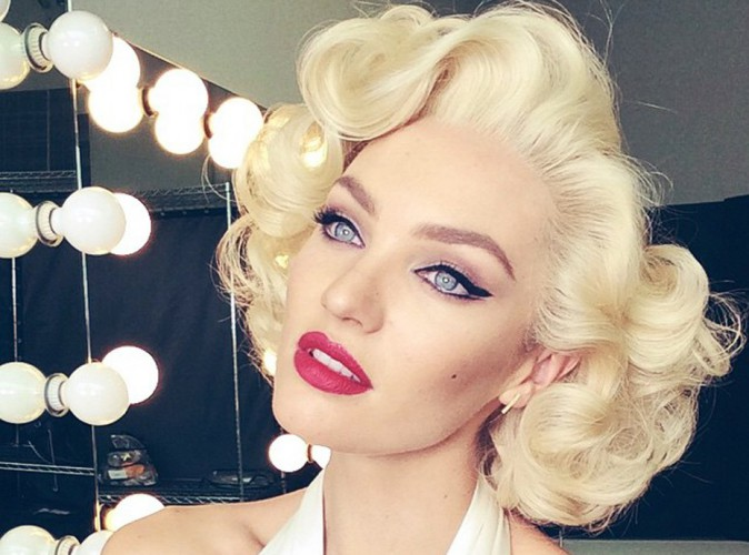 Beauté : Candice Swanepoel : transformée en Marylin Monroe !