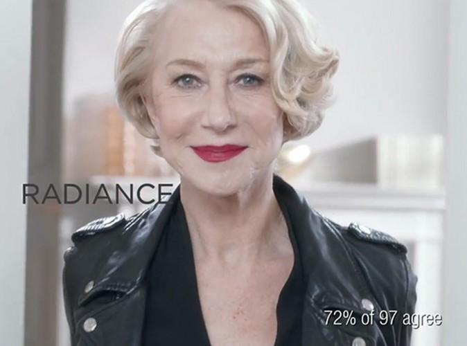 """Beauté : Helen Mirren : la star britannique nous montre """"qui est le patron"""" pour L'Oréal Paris !"""
