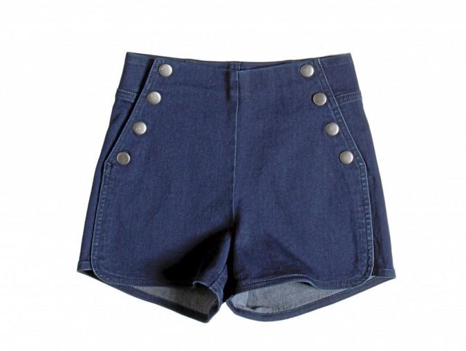 Short à pont en jean, Pull & Bear 25 €