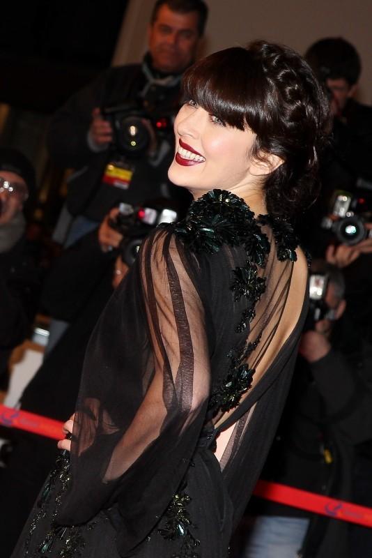 La couronne tressée de Nolwenn Leroy le 26 janvier 2013 à Cannes
