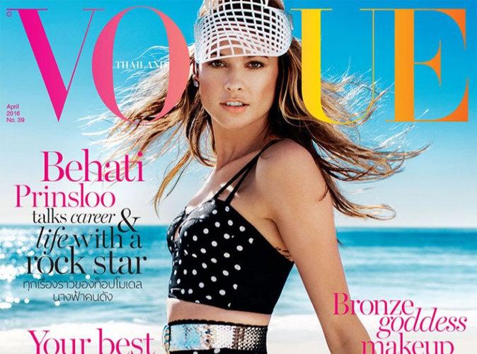 Behati Prinsloo : sexy à la plage en couverture de Vogue Thaïlande