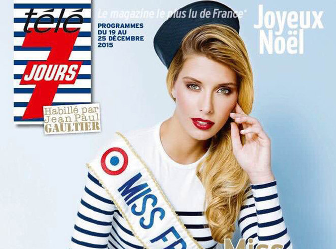Camille Cerf : en total look Jean-Paul Gaultier en une de Télé 7 Jours !