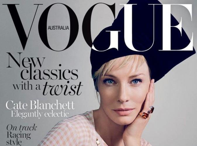 Cate Blanchett, envoutante en turban traditionnel et vichy tendance pour Vogue !