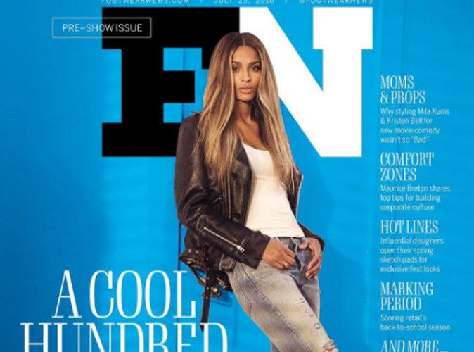 Ciara : nonchalante et cool en couverture de Footwear News
