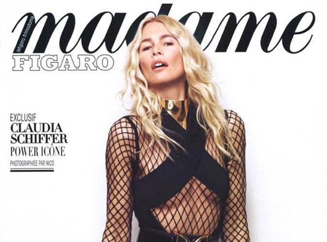 Claudia Schiffer : puissante en Balmain pour la couverture de Madame Figaro