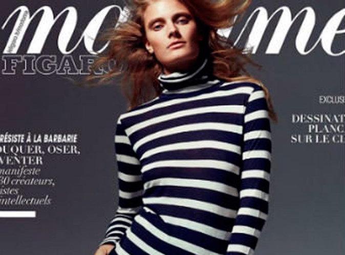 Constance Jablonski : sexy en cuissardes en Une de Madame Figaro