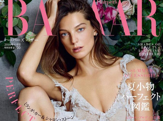 Daria Werbowy : angélique en couverture du magazine Harper's Bazaar Japon !