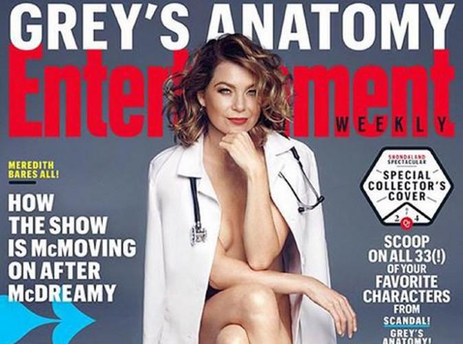 Ellen Pompeo : nue sous sa blouse, elle fait monter la température en couverture d'Entertainment Weekly !
