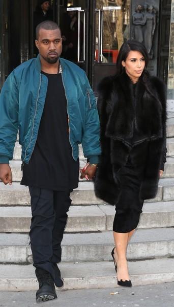Kanye West et Kim Kardashian - Fashion week automne-hiver 2013/14
