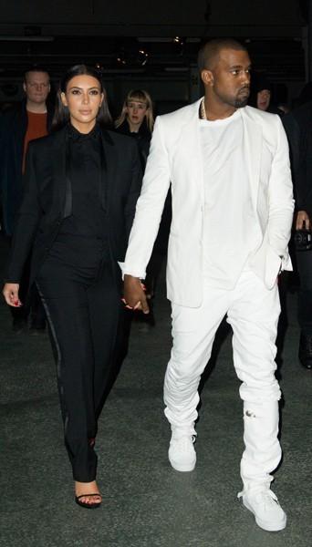 Kim Kardashian et Kanye West chez Givenchy - Fashion week automne-hiver 2013/14