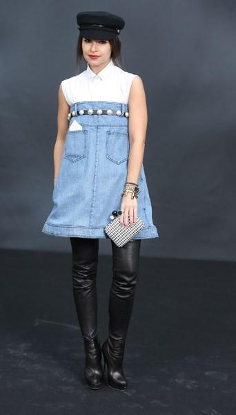 Miroslova Duma chez Chanel - Fashion week automne-hiver 2013/14