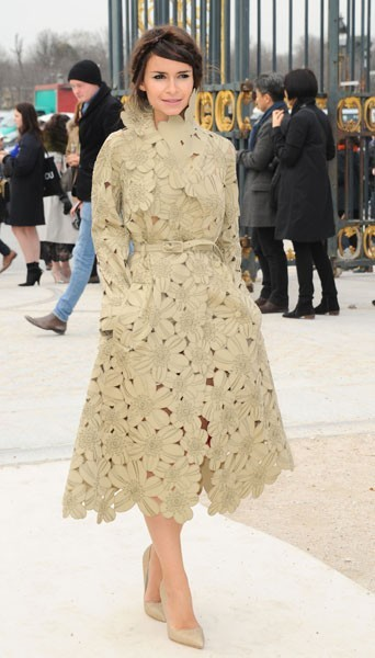 Miroslova Duma chez Valentino - Fashion week automne-hiver 2013/14