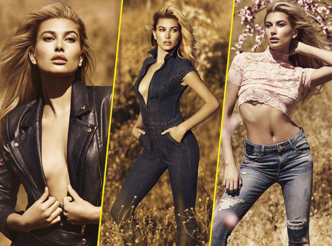 Hailey Baldwin : topless pour la nouvelle campagne Guess