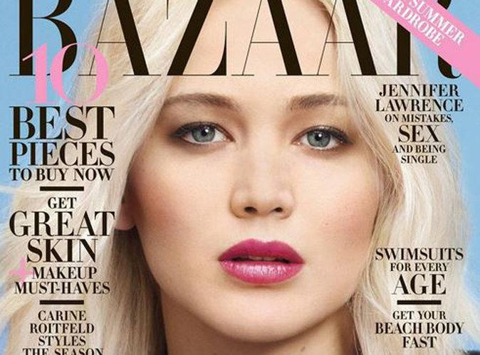 """Jennifer Lawrence envoutante en une de Harper's Bazaar : """"Il n'y a pas de raison d'être intimidé par moi"""""""