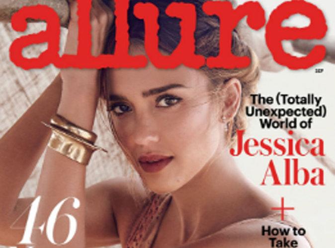 Jessica Alba : businesswoman et femme épanouie en couverture du magazine Allure