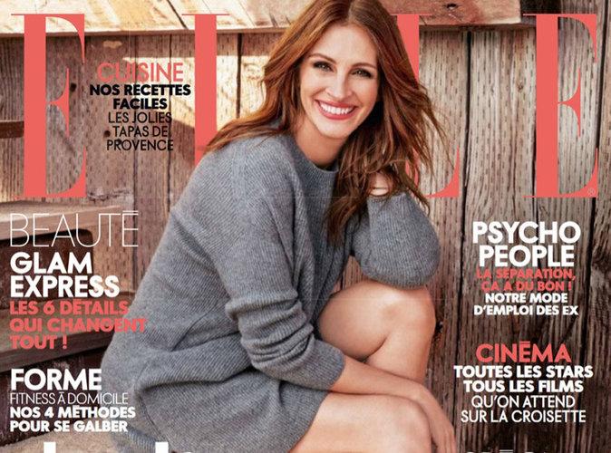 Julia Roberts : rayonnante en couverture du magazine ELLE France