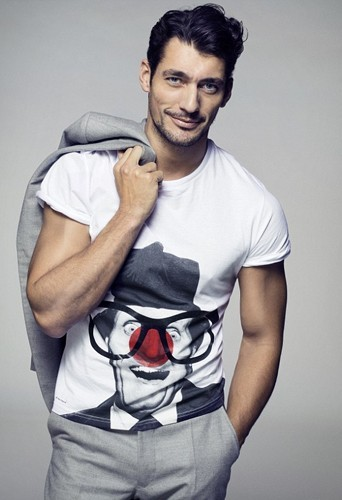 David Gandy pour le Red Nose Day de Comic Relief.