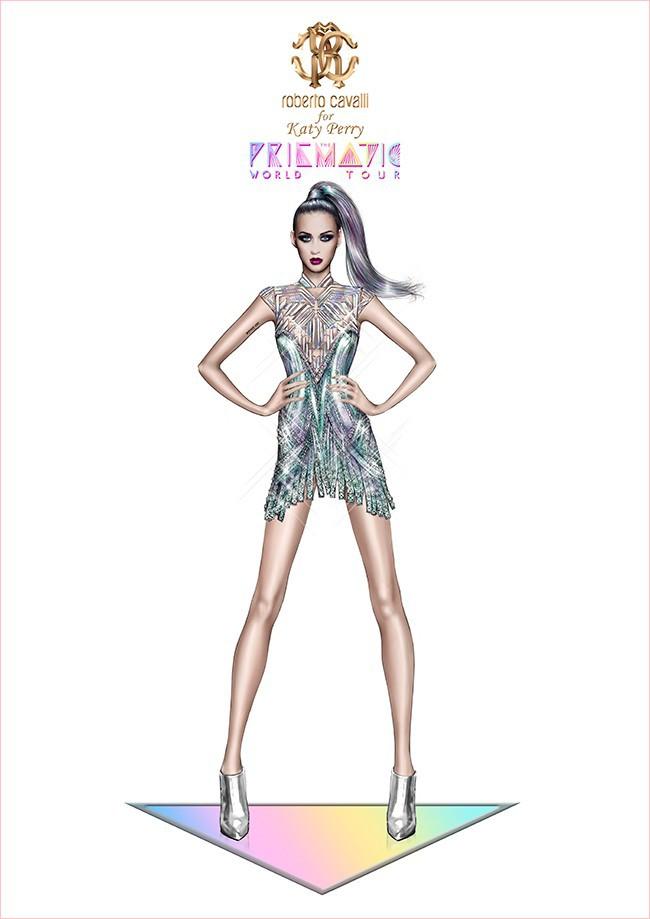 Katy Perry : pour son Prismatic Tour, deux costumes de scène ont été imaginés par Roberto Cavalli !