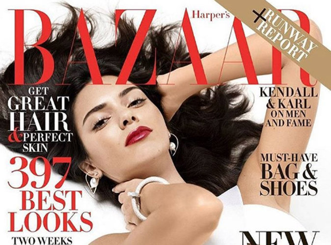 Kendall Jenner : ultra sexy et glamour en couverture du magazine Harper's Bazaar US !