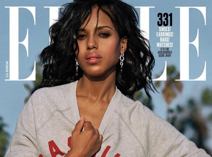 Kerry Washington : sportswear en couverture du magazine Elle US