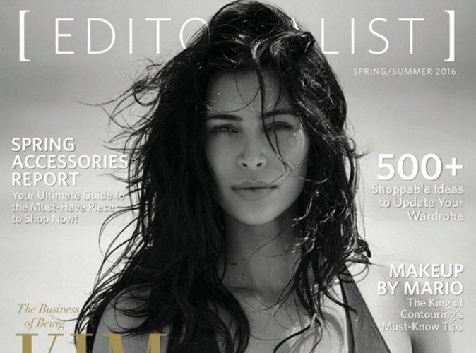 Kim Kardashian : bikini ultra sexy et chevelure sauvage en couverture de The Editorialist