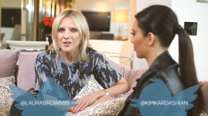 Kim Kardashian lors d'une interview à Londres !