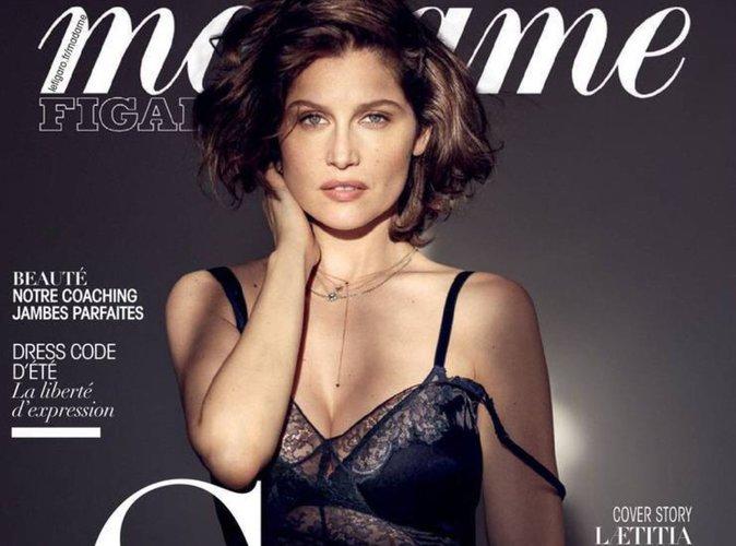 Laetitia Casta : sensuelle et chic, en couverture de Madame Figaro