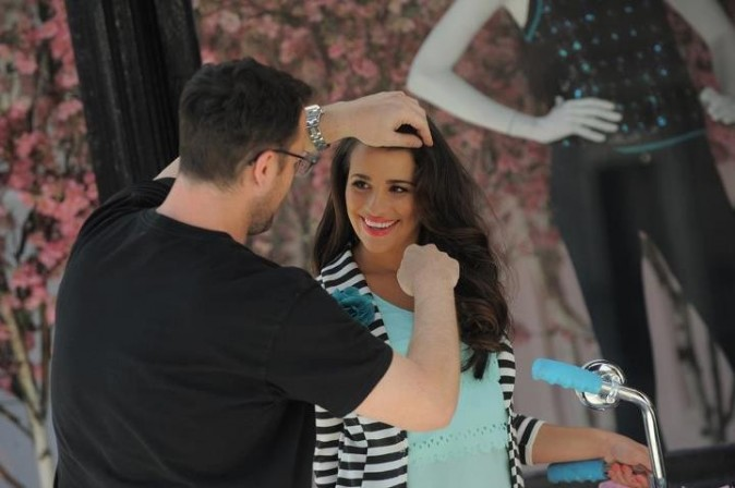 Lea Michele sur le tournage de la campagne publicitaire !